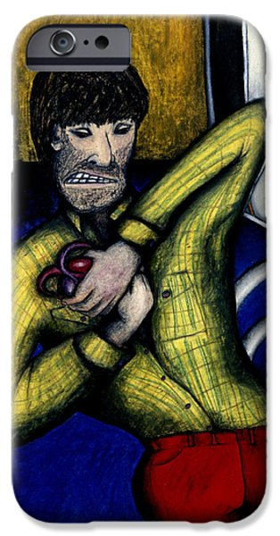 Drearp Paintings iPhone Cases - Creative Angst iPhone Case by Billy Knows
