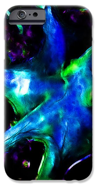 Creatures of The Deep - The Octopus - v3 - Electric - Blue iPhone Case by Wingsdomain Art and Photography