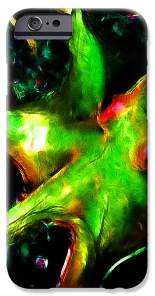Creatures of The Deep - The Octopus - v3 - Electric - Green iPhone Case by Wingsdomain Art and Photography