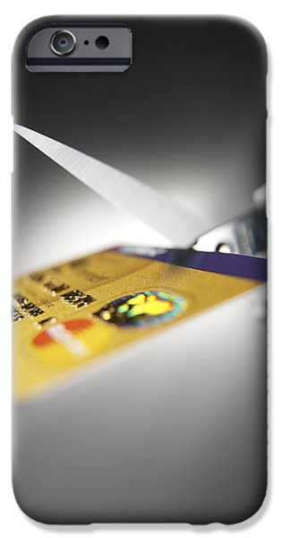 Overspending iPhone Cases - Credit Card Debt iPhone Case by Tek Image