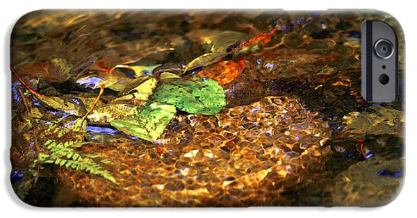 Fallen Leaf On Water iPhone Cases - Creekside iPhone Case by Sharon  Talson