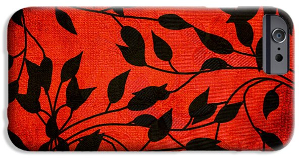 Vine Leaves iPhone Cases - Creeping Vines iPhone Case by Bonnie Bruno