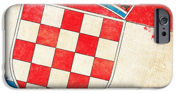 Abstract Pastels iPhone Cases - Croatia Flag iPhone Case by Setsiri Silapasuwanchai