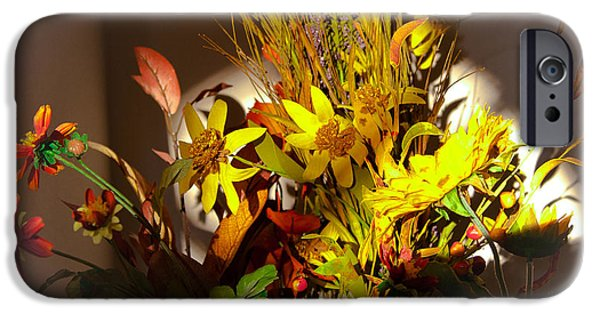 Crocks iPhone Cases - Crock Pot Full of Flowers iPhone Case by David Patterson
