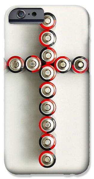 Cross Batteries 1 A iPhone Case by John Brueske