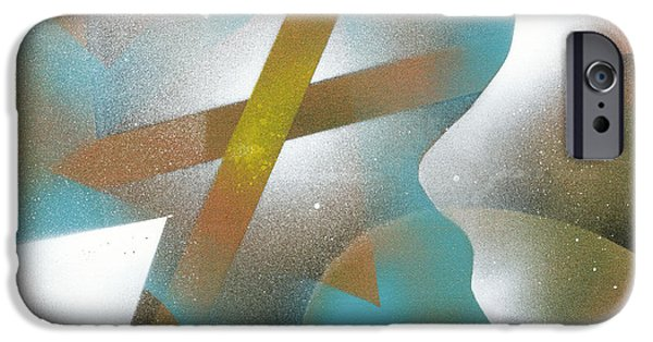 Contemplative Paintings iPhone Cases - Crossing of Minds iPhone Case by Hakon Soreide