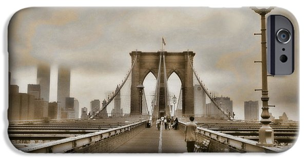 Twin Towers Nyc iPhone Cases - Crossing Over iPhone Case by Joann Vitali