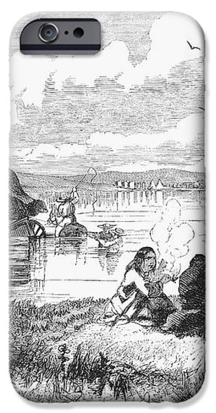 CROSSING THE PLATTE, 1859 iPhone Case by Granger