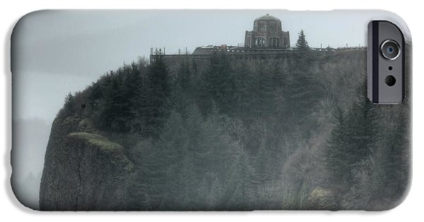 Crown iPhone Cases - Crown Point Vista House Columbia River Gorge Oregon iPhone Case by Dustin K Ryan