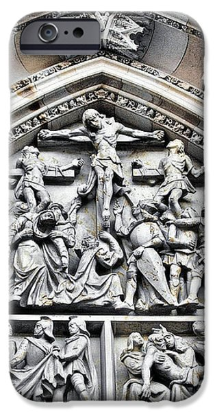 Crucified Christ - Saint Vitus Cathedral Prague Castle iPhone Case by Christine Till
