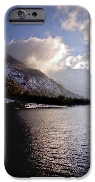 Wintertime iPhone Cases - Cruise on calm waters iPhone Case by Anthony Citro
