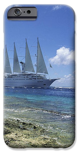 Cruise Ship iPhone Case by Alexis Rosenfeld