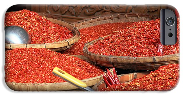 Chinese Market iPhone Cases - Crushed Chili Peppers iPhone Case by Valentino Visentini