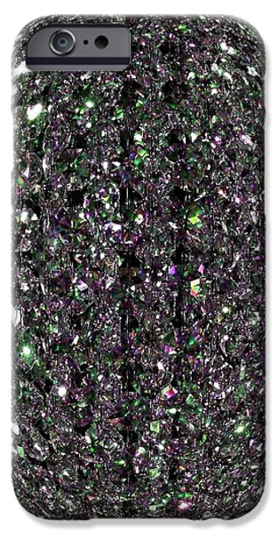 Refracted Light iPhone Cases - Crystal Radiance iPhone Case by Will Borden
