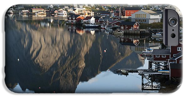 Norway iPhone Cases - Crystal Waters at Reine Village iPhone Case by Heiko Koehrer-Wagner