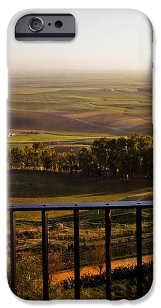 Cultivated Land in Spain iPhone Case by Spencer Grant and Photo Researchers