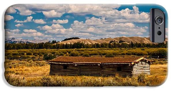 Log Cabin Photographs iPhone Cases - Cunningham Cabin II iPhone Case by Robert Bales