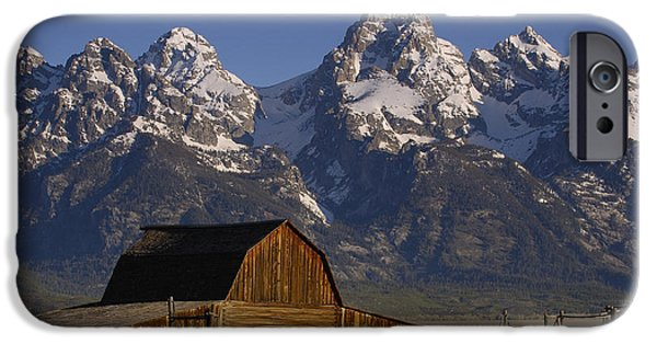 Mountains iPhone Cases - Cunningham Cabin In Front Of Grand iPhone Case by Pete Oxford