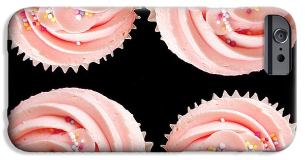 Sponge iPhone Cases - Cup cakes iPhone Case by Jane Rix