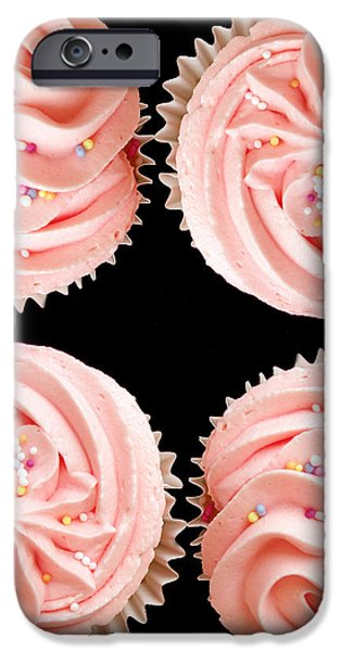 Cup cakes iPhone Case by Jane Rix