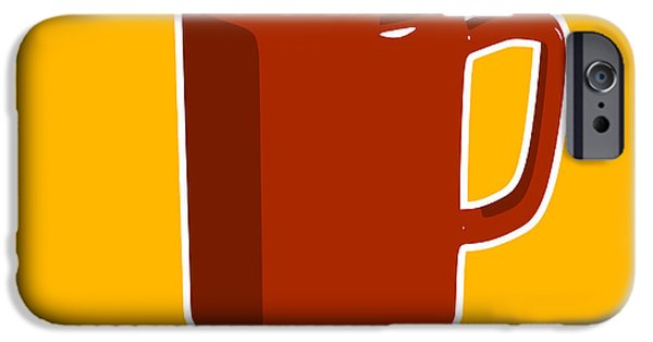 Coffee iPhone Cases - Cup of Coffee Graphic Image iPhone Case by Pixel Chimp