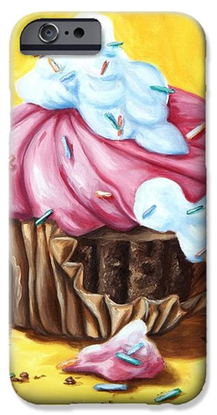 Frosting iPhone Cases - Cupcake iPhone Case by Maryn Crawford