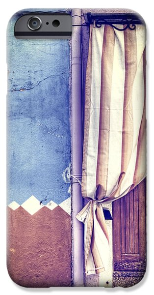Symmetrical Photographs iPhone Cases - Curtain iPhone Case by Joana Kruse