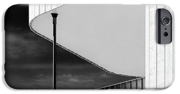 Balcony iPhone Cases - Curved Balcony iPhone Case by Dave Bowman