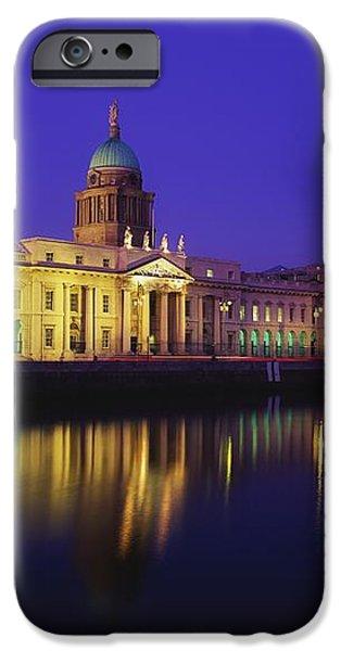 Custom House, Dublin, Co Dublin iPhone Case by The Irish Image Collection