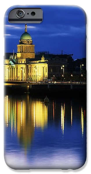Customs House And Liberty Hall, River iPhone Case by The Irish Image Collection