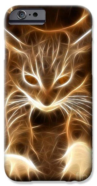 Cute Little Kitten iPhone Case by Pamela Johnson