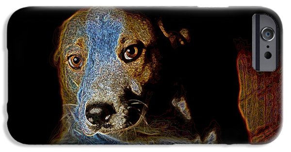 Puppy Digital Art iPhone Cases - Cutie iPhone Case by One Rude Dawg Orcutt