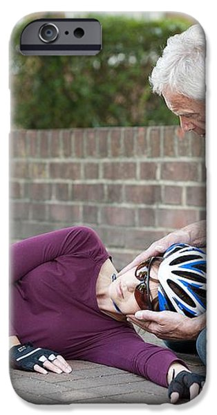 Cycling Accident iPhone Case by