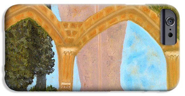Larnaca iPhone Cases - Cyprus Abbey of Bellapais iPhone Case by Augusta Stylianou