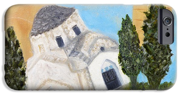 Larnaca iPhone Cases - Cyprus Church of Saint Andronikos iPhone Case by Augusta Stylianou