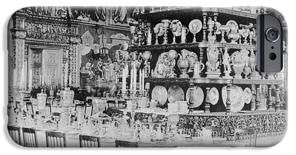 Dining Hall iPhone Cases - Czars Dining Hall In The Kremlin, 1919 iPhone Case by Photo Researchers