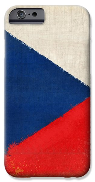 Czech Republic flag iPhone Case by Setsiri Silapasuwanchai