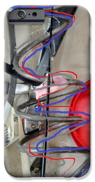 dad's garage iPhone Case by Jackie Bodnar