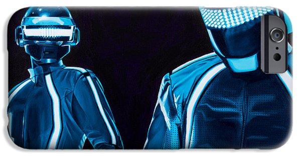 Daft Punk iPhone Cases - Daft Punk iPhone Case by Ellen Patton
