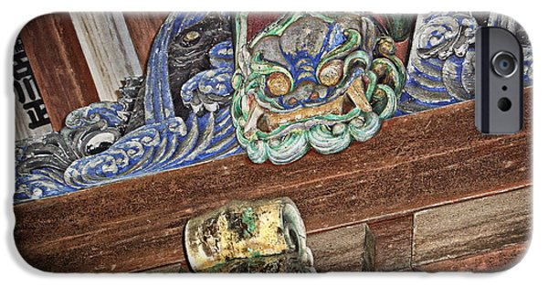 National Treasure iPhone Cases - Daigoji Temple Gate Gargoyle - Kyoto Japan iPhone Case by Daniel Hagerman