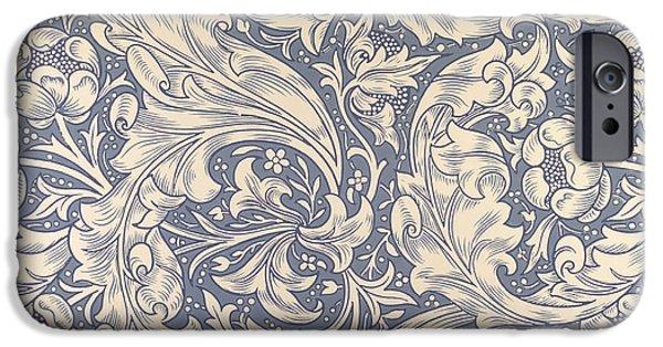 Nature Tapestries - Textiles iPhone Cases - Daisy Design iPhone Case by William Morris