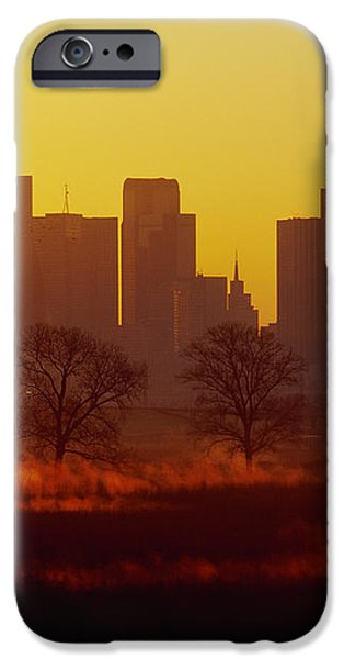 Dallas Skyline at Sunrise iPhone Case by Jeremy Woodhouse