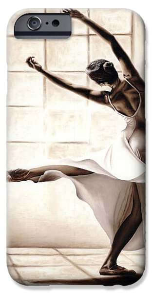 Dance Studio iPhone Cases - Dance Finesse iPhone Case by Richard Young