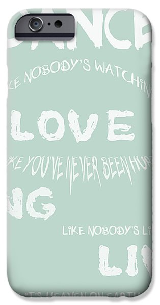 Dance Like Nobody's Watching - Blue iPhone Case by Nomad Art And  Design