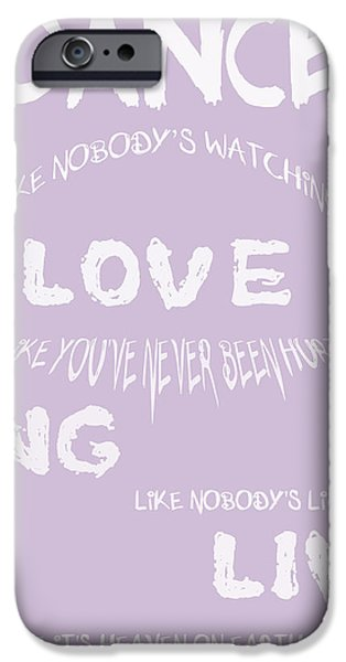 Dance Like Nobody's Watching - Lilac iPhone Case by Nomad Art And  Design