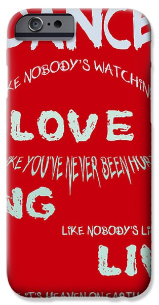 Dance Like Nobody's Watching - Red iPhone Case by Nomad Art And  Design