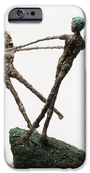 Dance on a Hill Top back view iPhone Case by Adam Long
