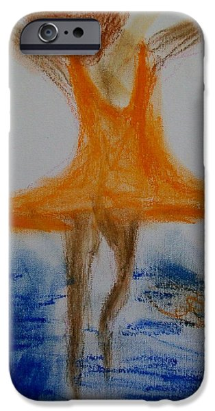 Dave Pastels iPhone Cases - Dance on the Water iPhone Case by Laurette Escobar