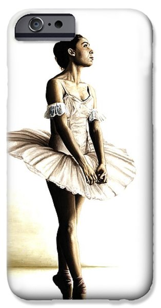 Tutu iPhone Cases - Dancer at Peace iPhone Case by Richard Young