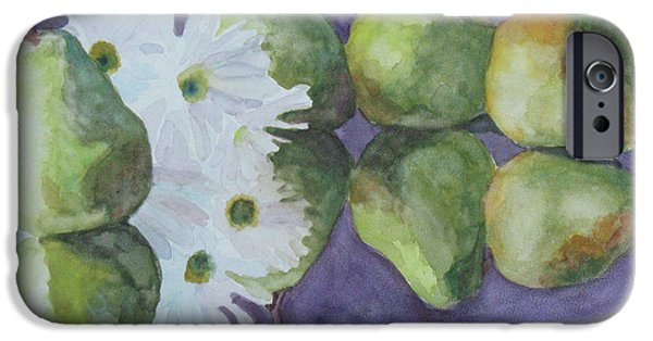 Pears iPhone Cases - Dances With Pears iPhone Case by Jenny Armitage